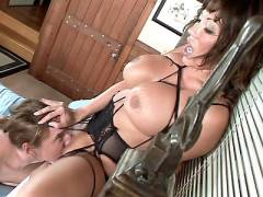 Asian in Stockings Enjoys Pussy Licking