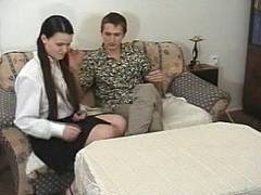 Teen Back Side Takes Spanking